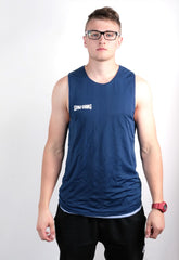Spalding Mens M Shirt Sleeveless Double-Sided Blue Sport Basketball Vintage - RetrospectClothes