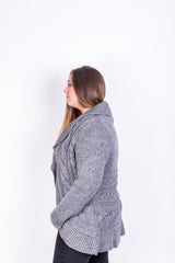 Jeffrey and Paula Womens XL 18 Cardigan Jumper Grey Sweater - RetrospectClothes
