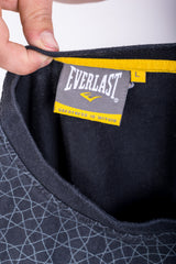Everlast Mens L Shirt Crew Neck Black Summer Short Sleeve Cotton - RetrospectClothes
