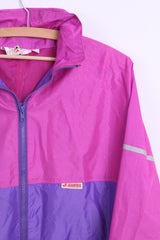 Jeantex Mens 50/52 XL Jacket Hood Waterproof Nylon Pink - RetrospectClothes