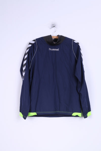 Hummel Mens/Boys S/YL 176 Track Jacket Navy Sport Training Top