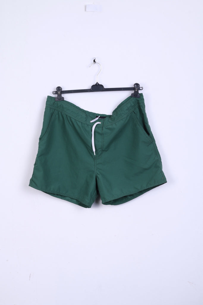 COMMANDER Mens L Shorts Pants Green Summer