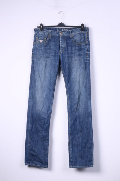 Guess Los Angeles Mens W32 Trousers Denim Cotton Jeans Straight Leg Pants