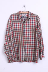 Imperial Mens 43 2XL Casual Shirt Check Canadian Style Rocky Muntain - RetrospectClothes