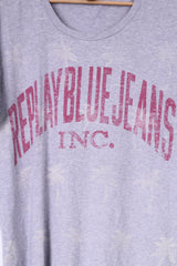 Replay Blue Jeans MFG Co. Mens M T-Shirt Grey Cotton Top Crew Neck