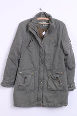 LANCHEN Womes XL Jacket Parka Green Cotton Padded Winter - RetrospectClothes