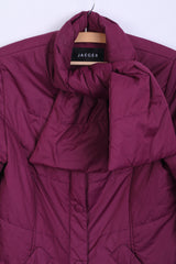 JAEGER Womens 8 S Jacket Purple Shawl Full Zip Warm