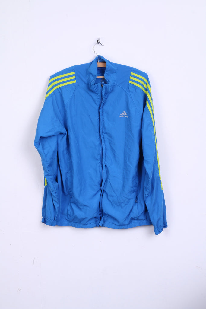 Adidas Mens M Track Top Jacket Light Blue Sport Traning