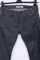 Levi Strauss &Co Mens W28 L32 Trousers Denim Navy Jeans Cotton 504 Straight