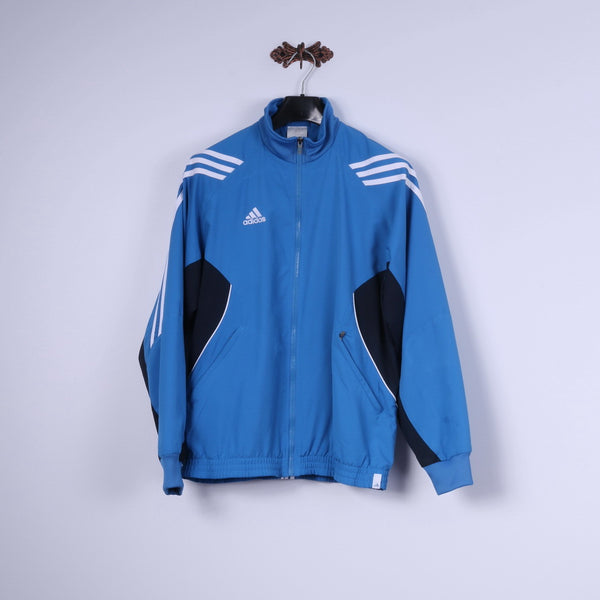 Adidas Mens 38/40 M 174 Jacket Blue Full Zipper Lightweight Sportswear Top