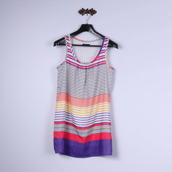 Nice Girl Girls M 164 Mini Dress White Multi Striped Summer Tunic