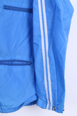 Freetime Mens 48 M Jacket Blue Nylon Waterproof Hood - RetrospectClothes