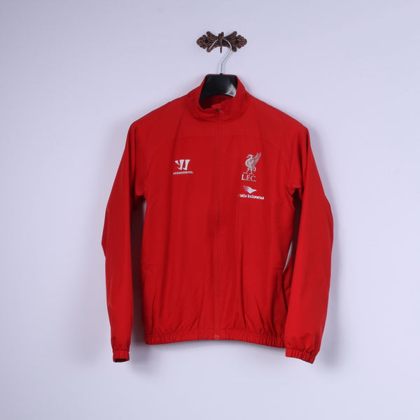 Warrior Mens XS Jacket Red Zip Up Liverpool Football Club Lightweight Top