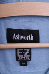 Ashworth Mens M Polo Shirt Classic Cotton Blue Performance Tech - RetrospectClothes