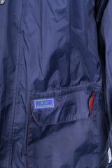 Champion Mens M Jacket Parka Outdoor Hood Navy Blue Full Zipper Waterproof - RetrospectClothes