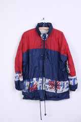 Luciano Womens L Jacket Festival Vintage Windbreaker Hidden Hood