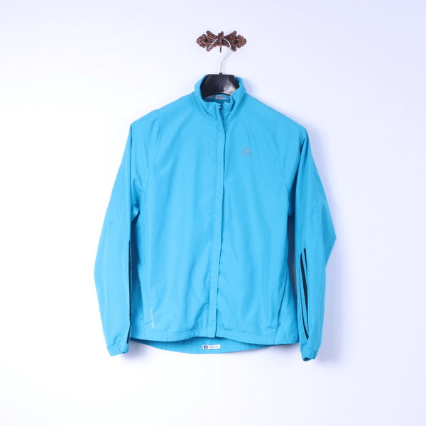 Adidas Womens 40 M Jacket Turquoise Clima Proof Formotion Run Fitness Top