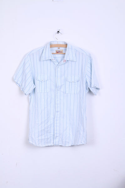 Joe Browns Mens M Casual Shirt Short Sleeve Cotton Striped