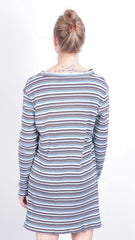 Warner Bros. Women's M Dress Cotton Tweety Striped V Neck - RetrospectClothes