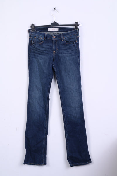 Hollister Boot Womens W28 Denim Trousers Jeans Navy Cotton