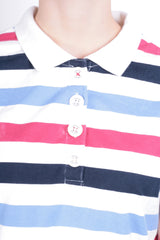 Joules Women's 2XL Polo Shirt Striped White Short Sleeve - RetrospectClothes