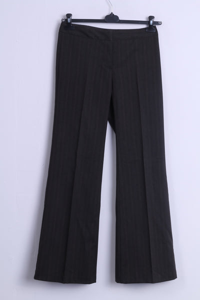 United Colors Of Benetton Womens 40 S Trousers Brown Striped Elegant  Pants