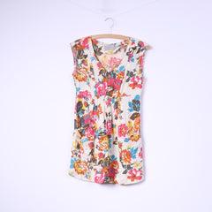 Tom Joule Womens Xs 8 Mini Dress Flowers Print Multicolor Sleeveless