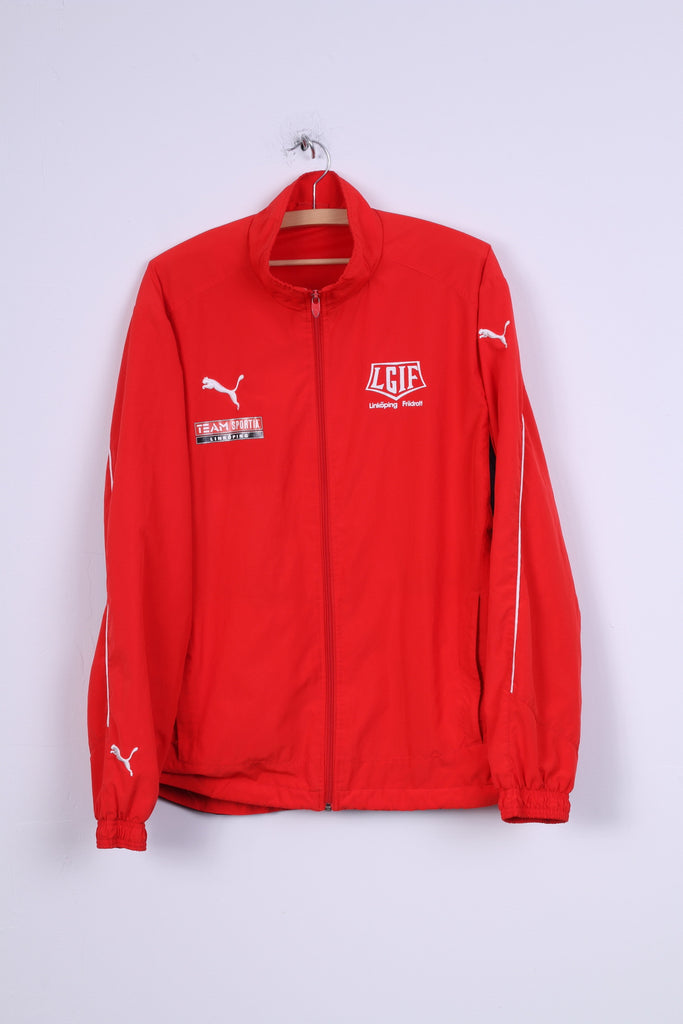 Puma Mens L Jacket Red IFK Linköpings Zip Up Lightweight Top