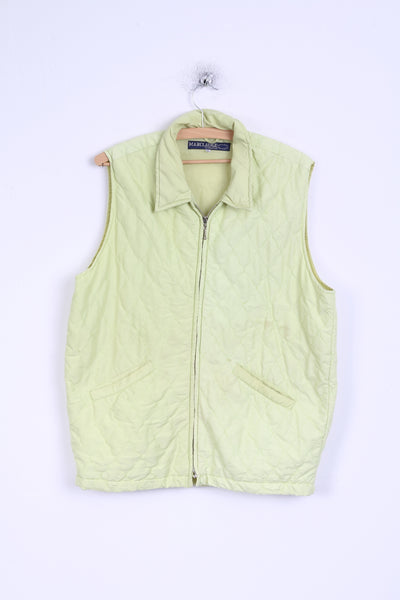 Marc Lauge Womens M Vest Lime Waistcoat Bodywarmer Quilted Lightweight Top