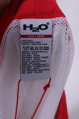 H2O Mens L Shorts Swimpants Red Sportswear Mesh Lined