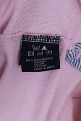Gaastra Mens XL Polo Shirt Pink Cotton Renaissance Islands Embroidered Detailed Buttons