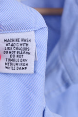T.M. Lewin Mens 17 34.5 XXL Formal Shirt Blue Cufflinks Cotton