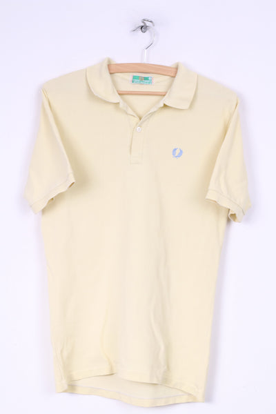 Fred Perry Mens 5 S Polo Shirt Yellow Short Sleeve Cotton Summer Top