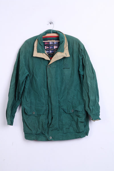 Paul & Shark Mens XL Vintage Silk Jacket Yachting Jetpak Dark Green - RetrospectClothes