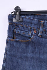 Paul Smith Pink Womens 30 Trousers Denim Jeans Blue Cotton