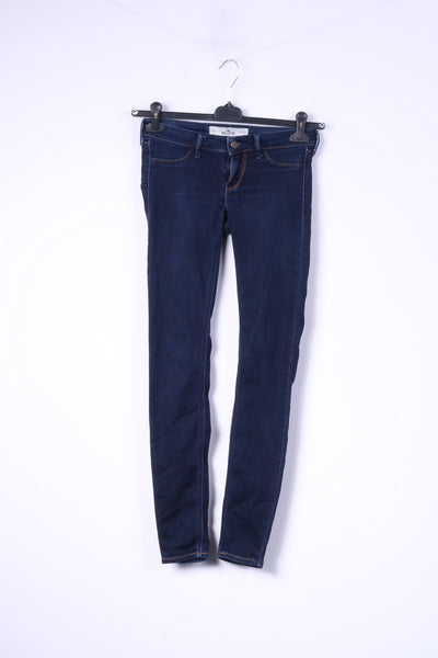 Hollister California Womens 0 W24 L29 Trousers Denim Navy Cotton Jeans