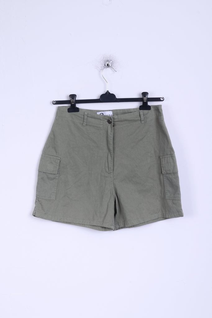 O zone Womens 12 M Shorts khaki Hight Waist Cotton