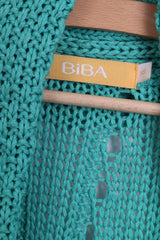 BIBA Womens XS Bolero Cropped Knitted Green Shrug Top - RetrospectClothes