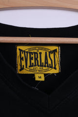 Everlast Mens M T-Shirt Black Cotton Graphic Choice of Champ V Neck