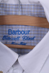 Barbour Mens 41/42 L Casual Shirt White Two Fold Cotton Long Sleeve