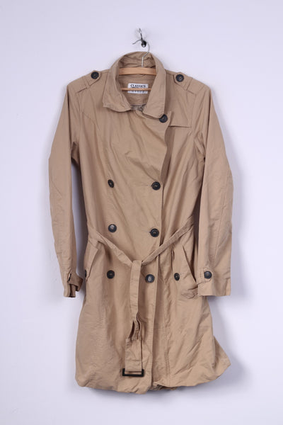 TCM Classics meet Trends Womens 38 M Coat Double Breasted Trench Cotton Nylon