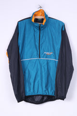 Pace Racing Mens L Cycling Jacket Lightweight Zip Neck Sportswear Nylon Waterproof Turquoise/Black