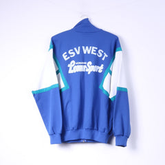 Adidas Mens D7 L 180 Sweatshirt Blue ESV West Loma-Sport Nurnberg Vintage Zip Up Top