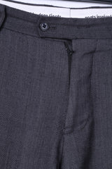 Moods Of Norway Mens 52 35 Elegant Trousers Grey 100% Wool Even Flo Model Pants