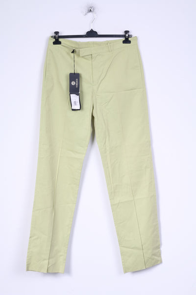 New Versace Mens 50 Trousers Olive Cotton Elegant Italy Gianni Pants