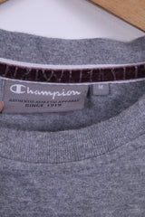 Champion Mens M T-Shirt Grey Cotton Graphic