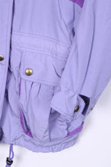 Vintage Womens 38 (XL) Jacket Lightweight Purple Full Zipper Nylon Waterproof