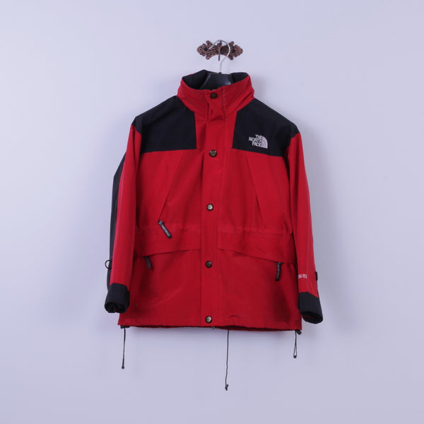 The North Face Womens XL (S) Jacket Red Nylon Zip Up Hooded Outdoor Mountain Top