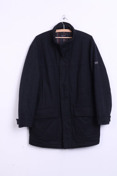 Paul & Shark Mens M Jacket Coat Black Yachting Blazer Pockets - RetrospectClothes