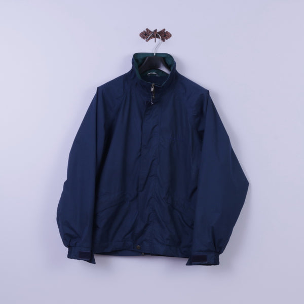 Action By Finlayson Mens M Jacket Golf Navy Scotchgar Protector Windproof Top